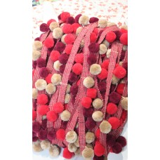 pom pom multicolored bobbles